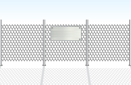 iron fence: Chainlink Fence  Vector Illustration Illustration
