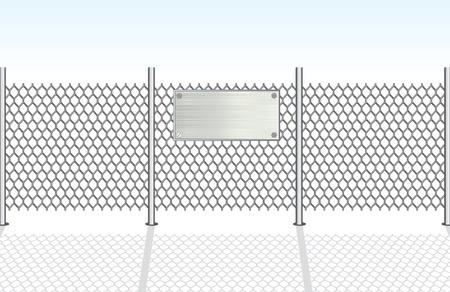 összekapcsol: Chainlink Fence vektoros illusztráció Illusztráció
