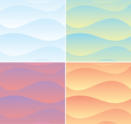 Set of Soft Waving Backgrounds  Vector Graphics Vector