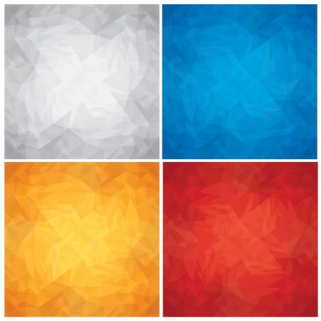 paper textures: Set of Crumpled, Colored Paper Textures  Vector