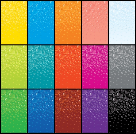 retina display: Large Set of Colorful Bubble Backgrounds  Vector Graphics Illustration