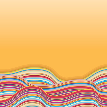 Colorful Stripe Waves  Retro Vector Background Stock Vector - 17919142