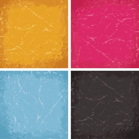 coloured background: Grunge Textures Set  Colored Vector Backgrounds