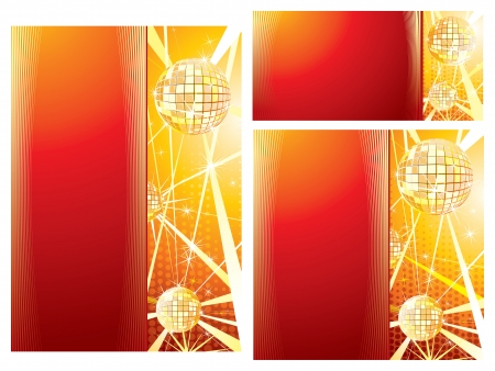 Set of Disco Music Print Templates Vector Vector