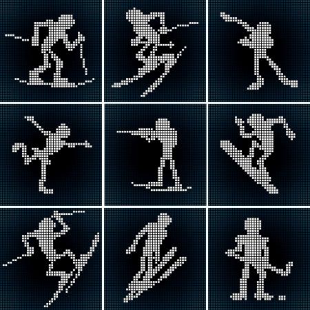 winter sport: Winter Sport Icons  Vector Set
