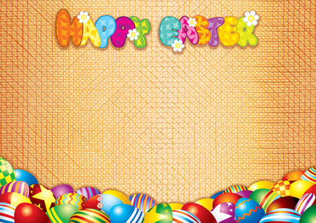 woven label: Happy Easter Card  Decorative Background