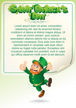 Saint Patrick Day Party Background with Leprechaun photo