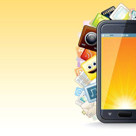 Smart Phone Apps Poster  Illustration Stock Illustration - 18002224