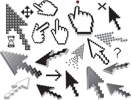 Pixelated Icons and Symbols  set Vector
