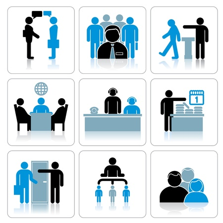 Business People Icons  Vector Set Vector