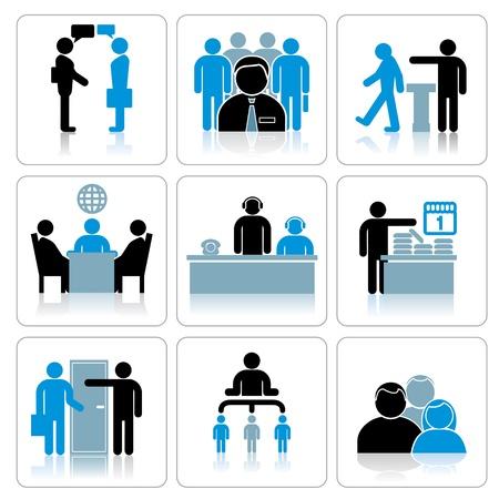 La gente de negocios Icons Set Vector