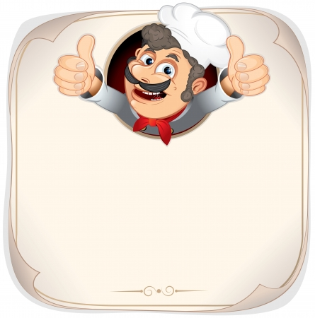 Chef Cook Showing Thumb Up Stock Photo - 18467156