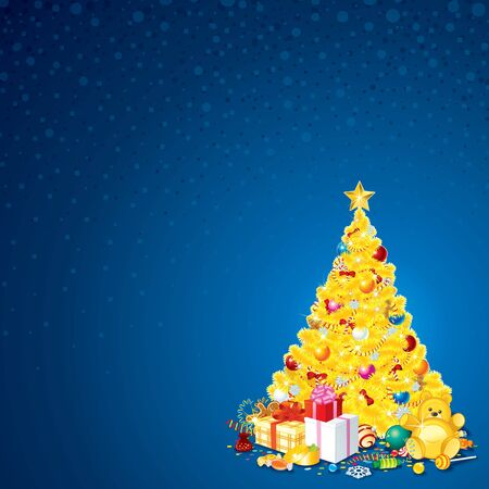 Background with Christmas Tree Stock Photo - 18467168