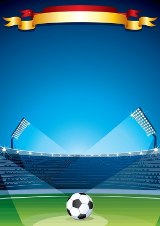 Soccer Stadium Background  Vector Design Template