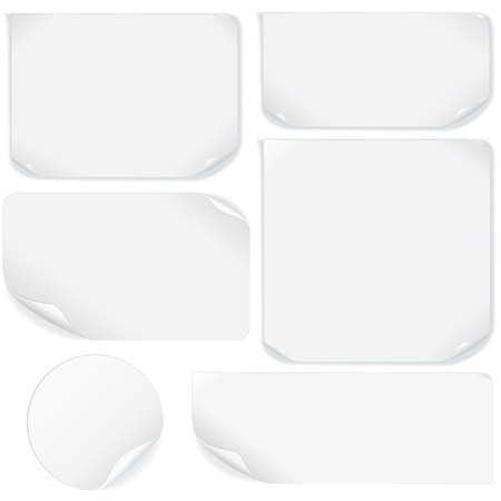 blank note: Isolated Blank Paper Sheet  Vector Pack Illustration