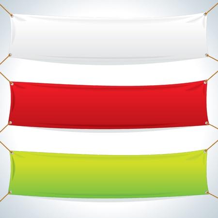 繊維バナー ベクトル テンプレートの図  イラスト・ベクター素材