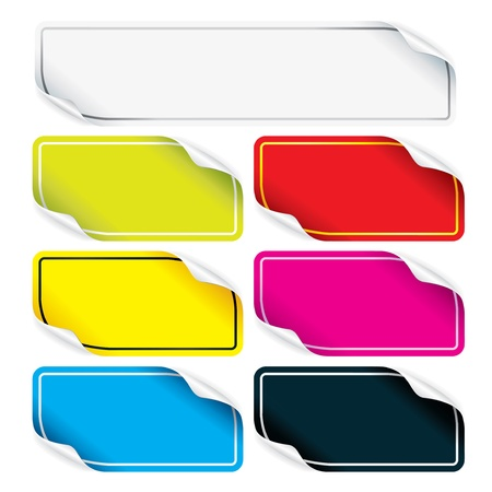 Set of colorful stickers for your design Stock Photo - 18847771