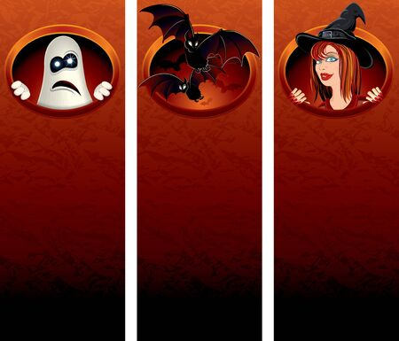 Halloween vertical banners photo