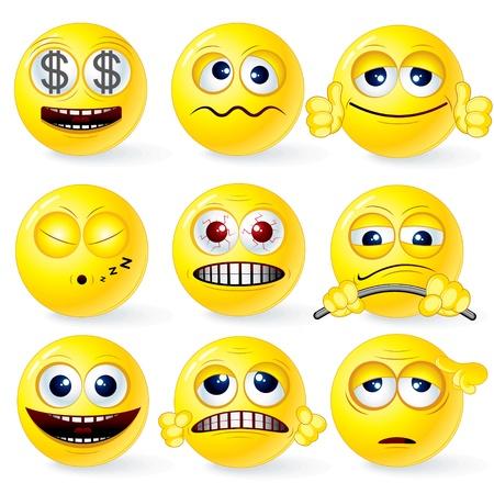 wink: Cartoon Yellow Smileys