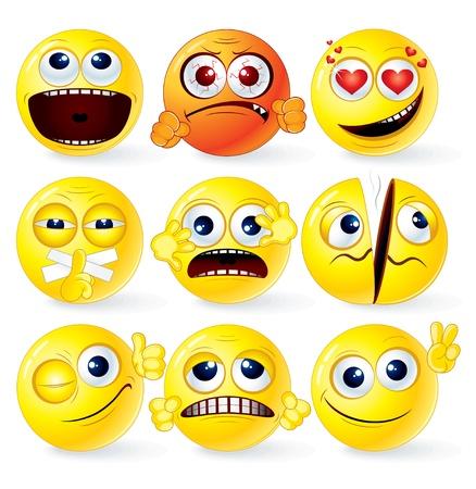 winning mood: Cartoon Yellow Smileys