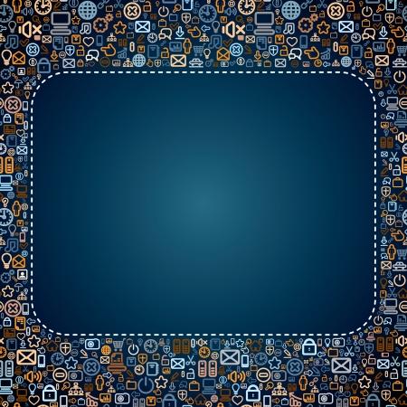 Media Icons Hintergrund mit Platz für Text