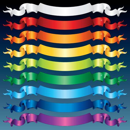 Multicolored Shiny Ribbons  photo