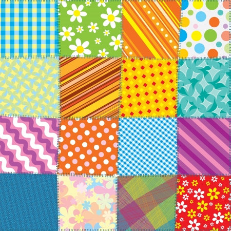 Seamless Quilt Pattern photo