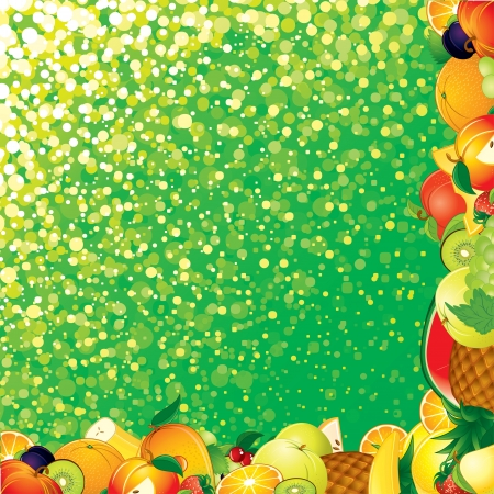 Vector Fruits Backdrop photo