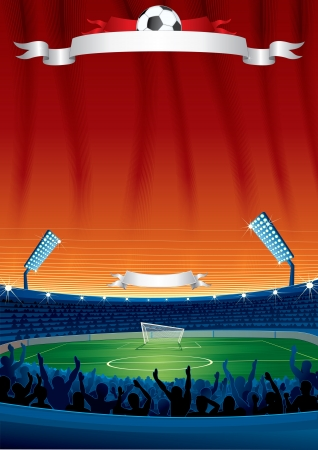 Soccer Background Template Stock Photo