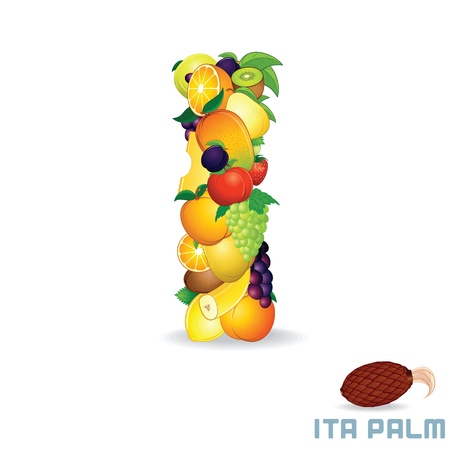 Vector Alphabet From Fruit  Letter I Vector