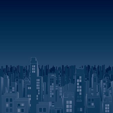 moody sky: Più cupo Dark City Vector Image