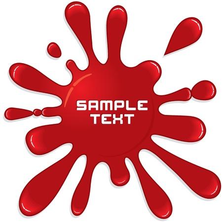 splodge: Red Paint Splash  Vector Illustration