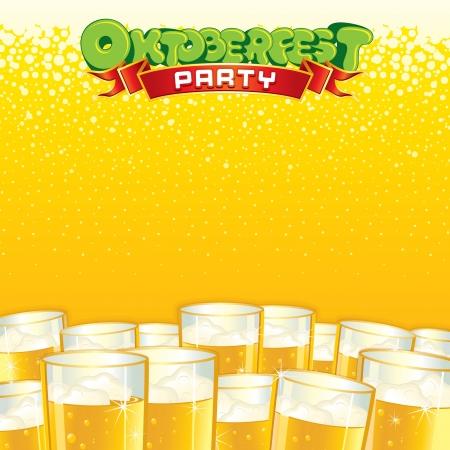 cerveza: Antecedentes Fest Beer Plantilla Vector brillante