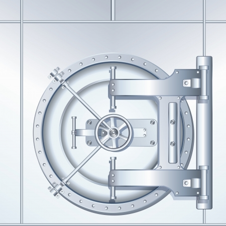 Illustration of Bank Vault Door illustration