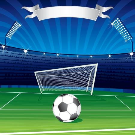 pelota caricatura: Campeones de la liga de fútbol Poster