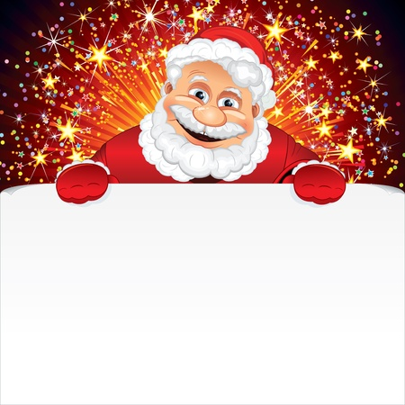 festive occasions: Santa Claus Greeting Card Stock Photo