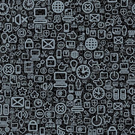 Seamless Technology Pattern Stock Photo - 19122482