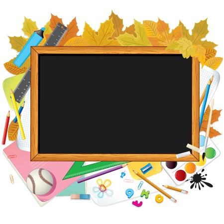 Terug naar school Afbeelding met vrije ruimte voor tekst Stockfoto