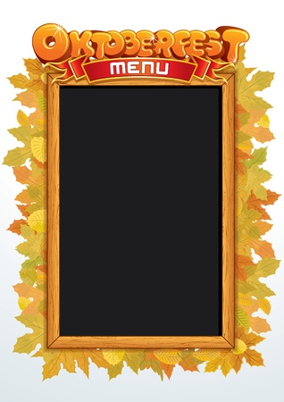 main board: Oktoberfest MenuTemplate for Your Text