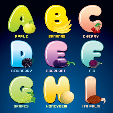 Fruits And Berries In Alphabetical Order  photo