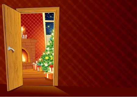 Festive Christmas interior photo