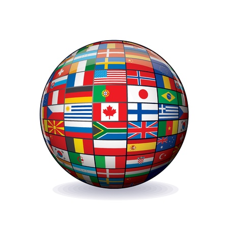 Flags Globe  Sphere with Flags of the World photo