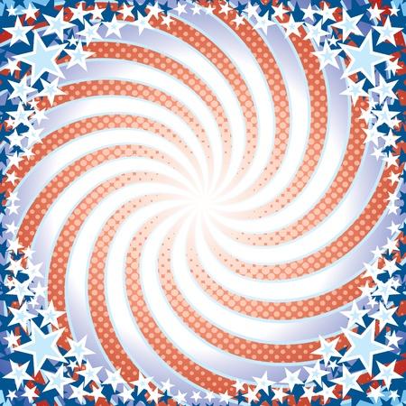 presidential: Stylized US Retro Background