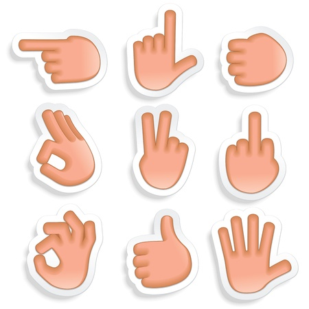 pointing finger: Hand Gestures Icon Set 2