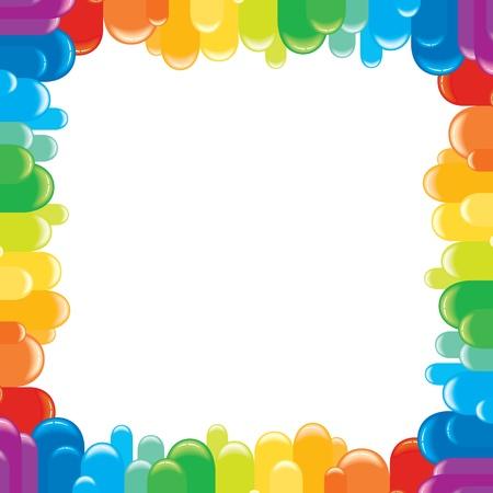 cute border: Funky cornice colorata illustrazione vettoriale