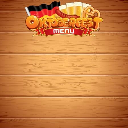 Oktoberfest Poster or Menu Template  Vector Image Vector