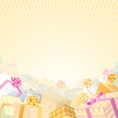 giftbox: Backdrop with stack of gift boxes