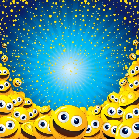 Smiley Background Stock Photo - 19574431