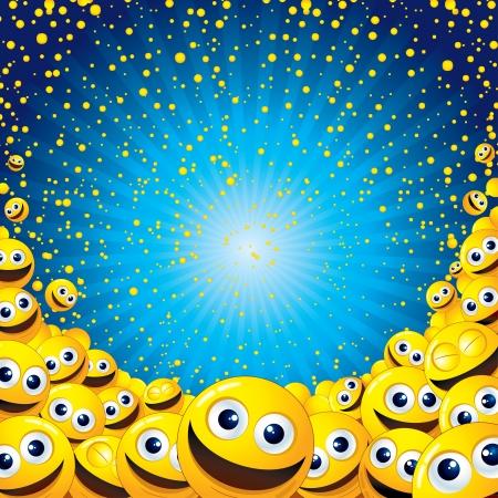lachendes gesicht: Smiley Hintergrund Lizenzfreie Bilder