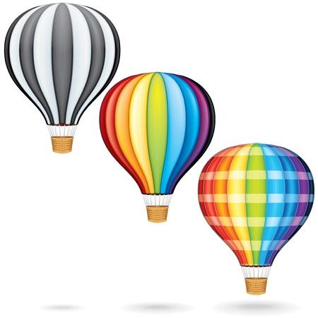 hot air balloon: Flying Hot Air Balloons Stock Photo